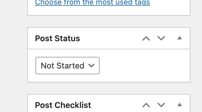 post status meta