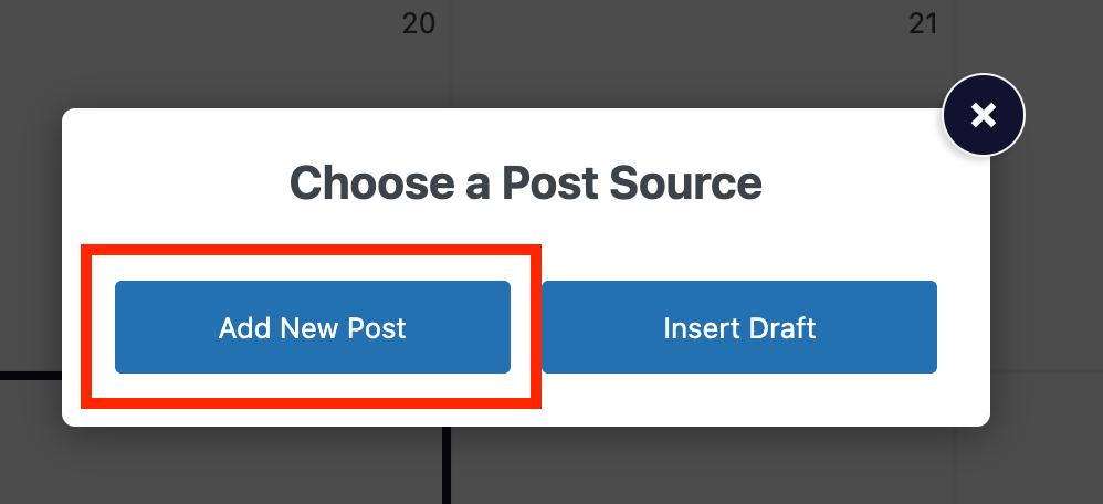 Button to add a new post