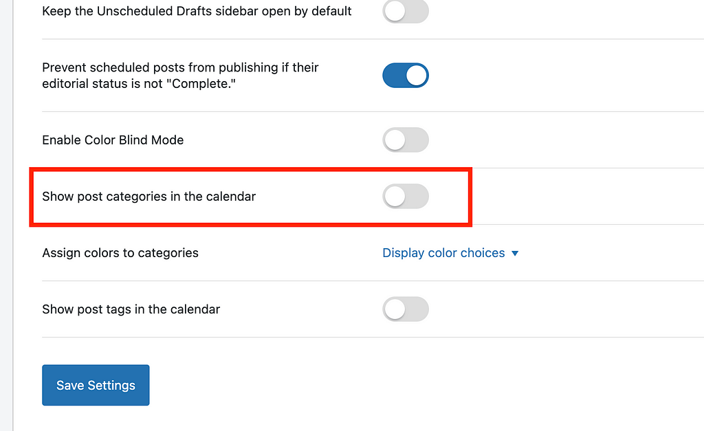 enable post categories