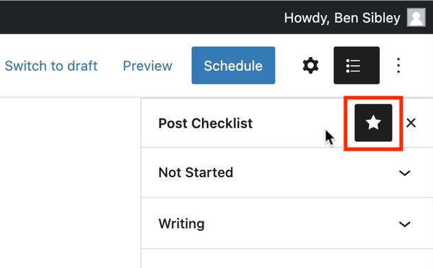 checklist star icon