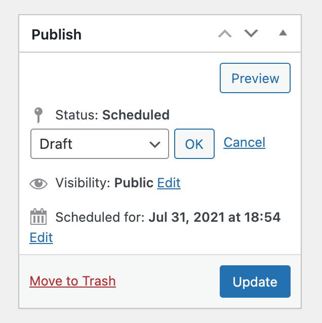 Status dropdown select