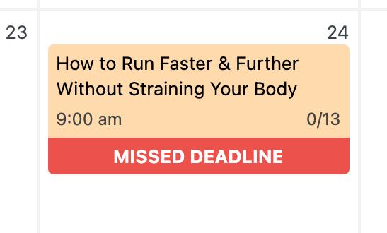 missed deadline post