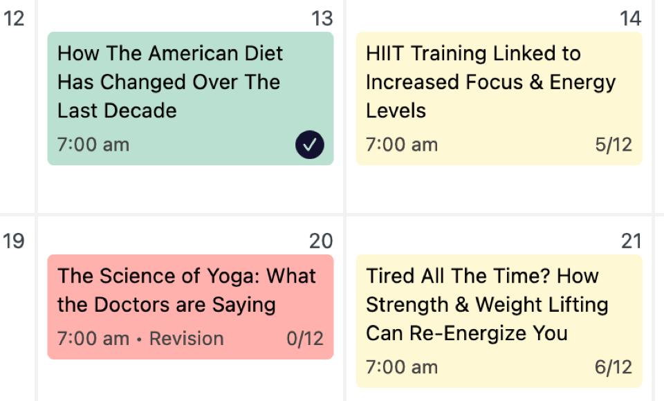 Checklist progress