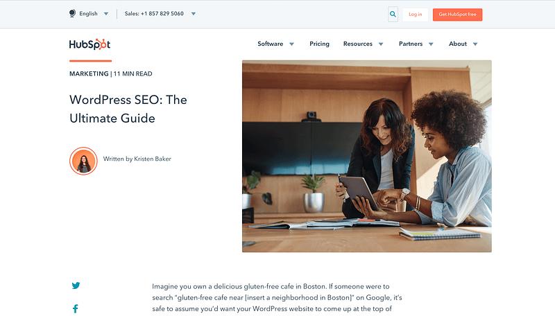 Artículo del motor de búsqueda de Hubspot