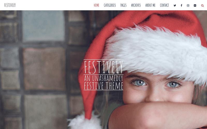 Festively holiday theme