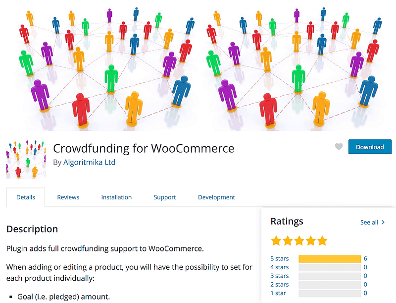 Crowdfunding for WooCommerce plugin
