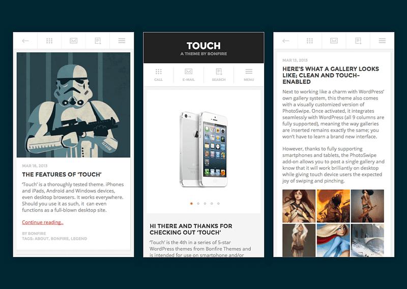 Touch mobile WordPress theme