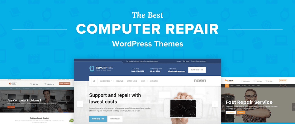 Top 9 Best Wordpress Themes For Computer Repair Businesses In 2019