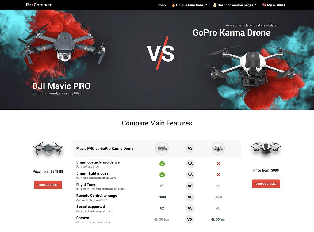 Price Comparison Theme