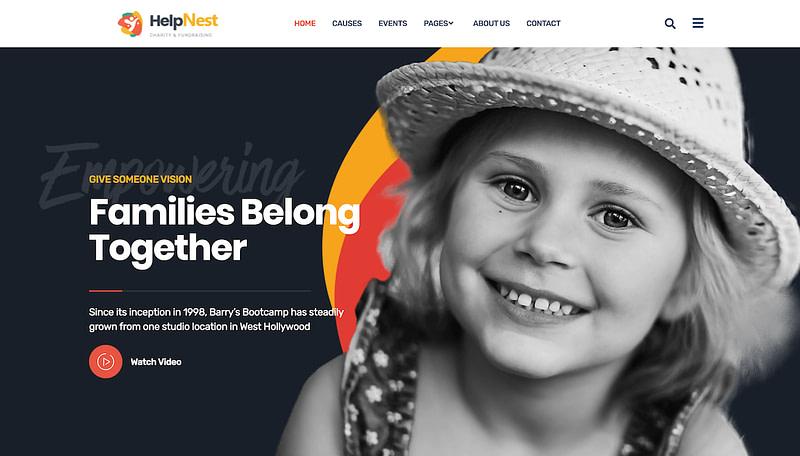 HelpNest charity Elementor template