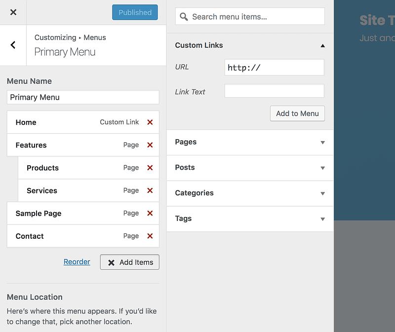 Custom Link Section