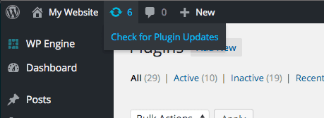 checking for plugin updates