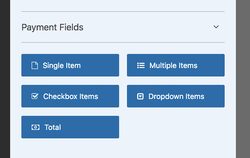 Payment Fields