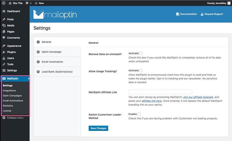 MailOptin Settings