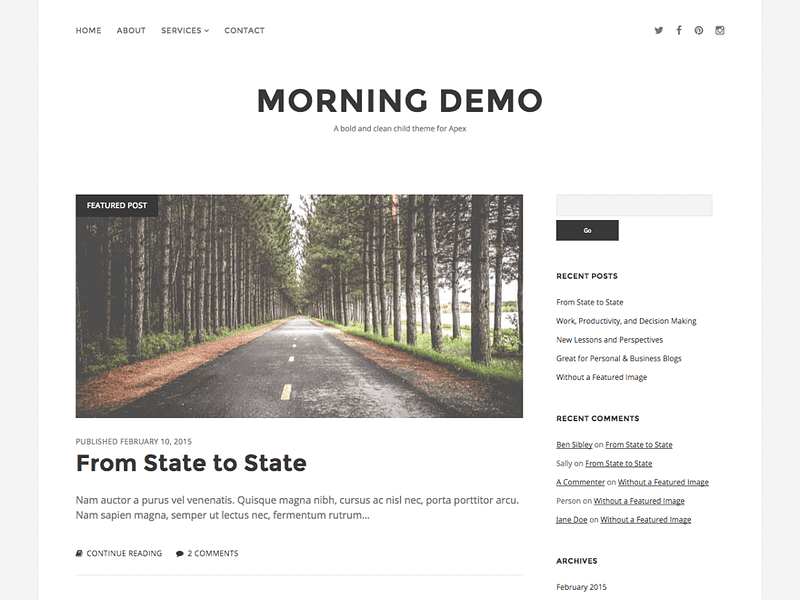 Morning free WP theme