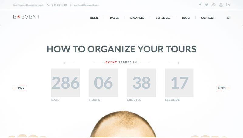 E-Event WordPress theme