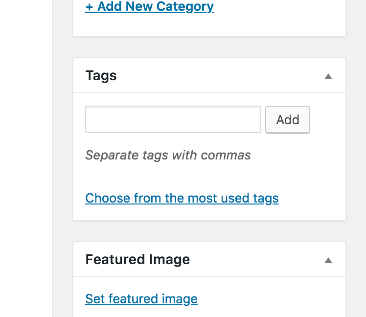 Post Tags Classic Editor