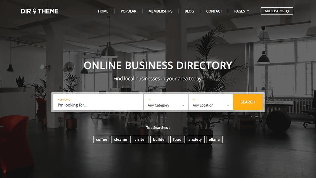 Directory Theme Demo