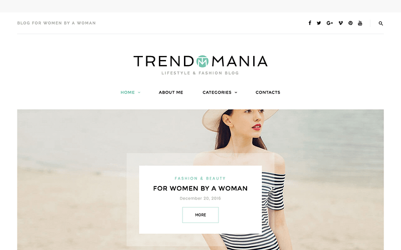 Trendomania fashion theme