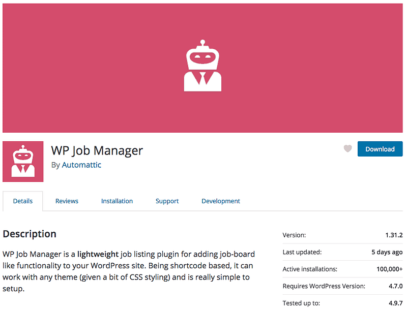 WP Job Board