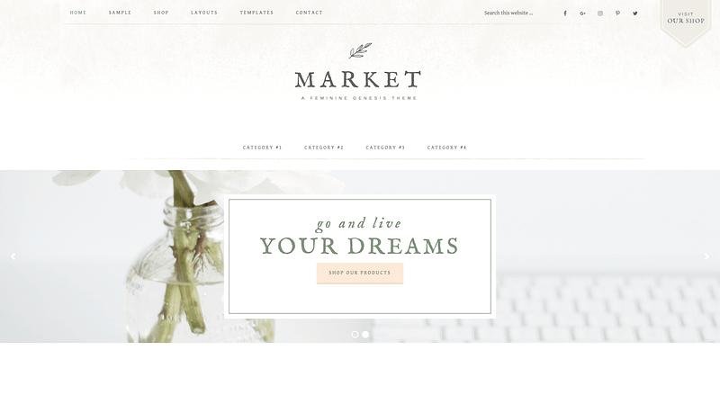 Market Pro feminine blog theme