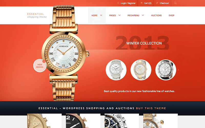 Essential WordPress auction theme