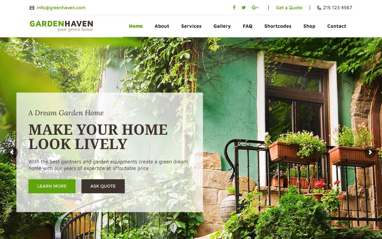 Wordpress Themes For Garden Centers