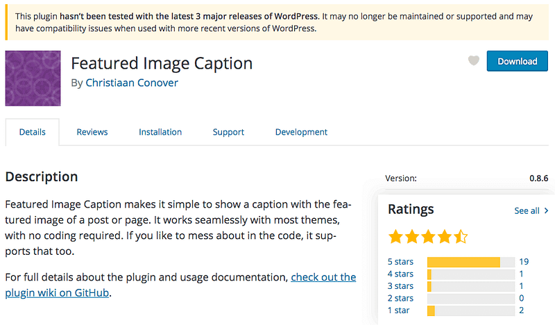 Featured Image Caption Plugin