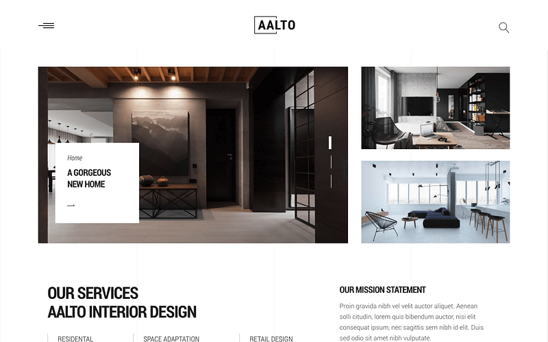 Aalto interior design theme