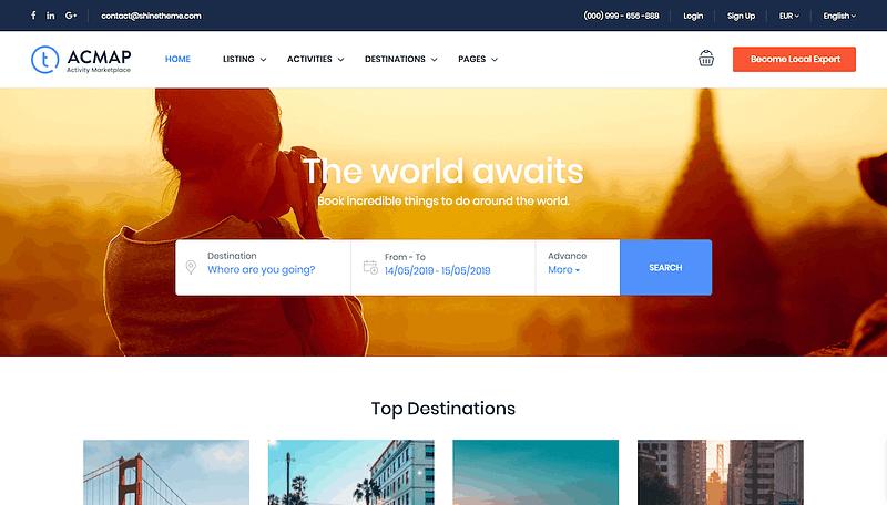 Traveler theme like Expedia