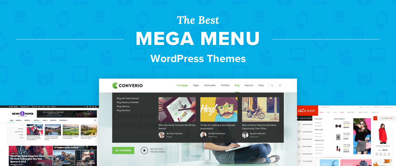 Mega Menu WordPress Themes