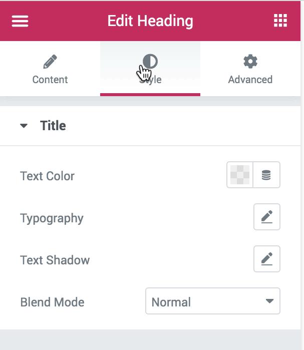 Widget Style Options