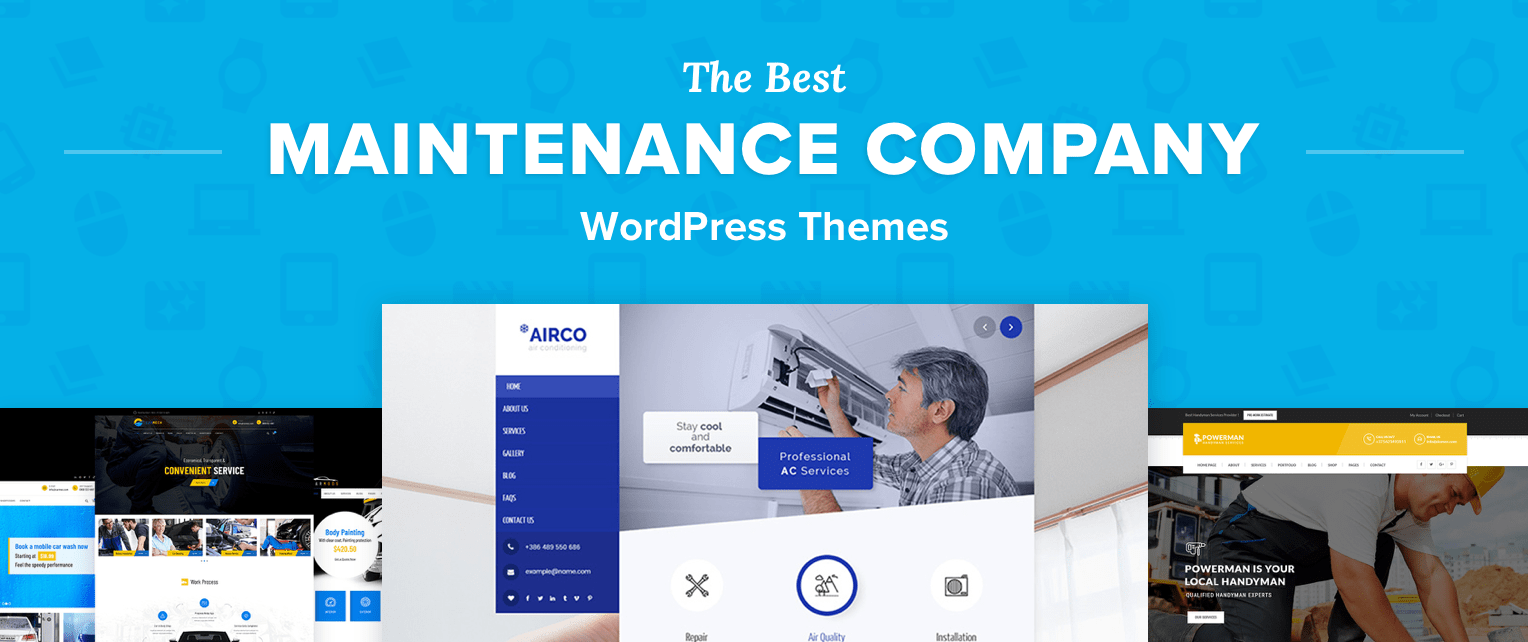 Maintenance Wordpress Themes