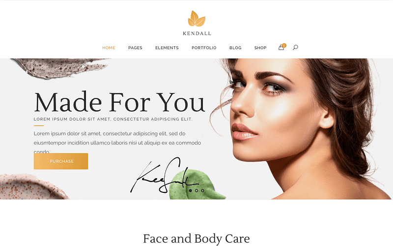 Kendall beauty WP theme
