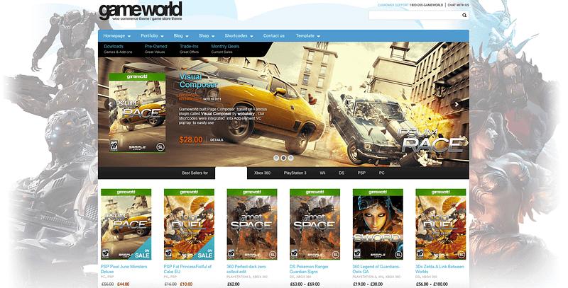 GameWorld gaming theme