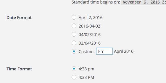 entering a custom date format