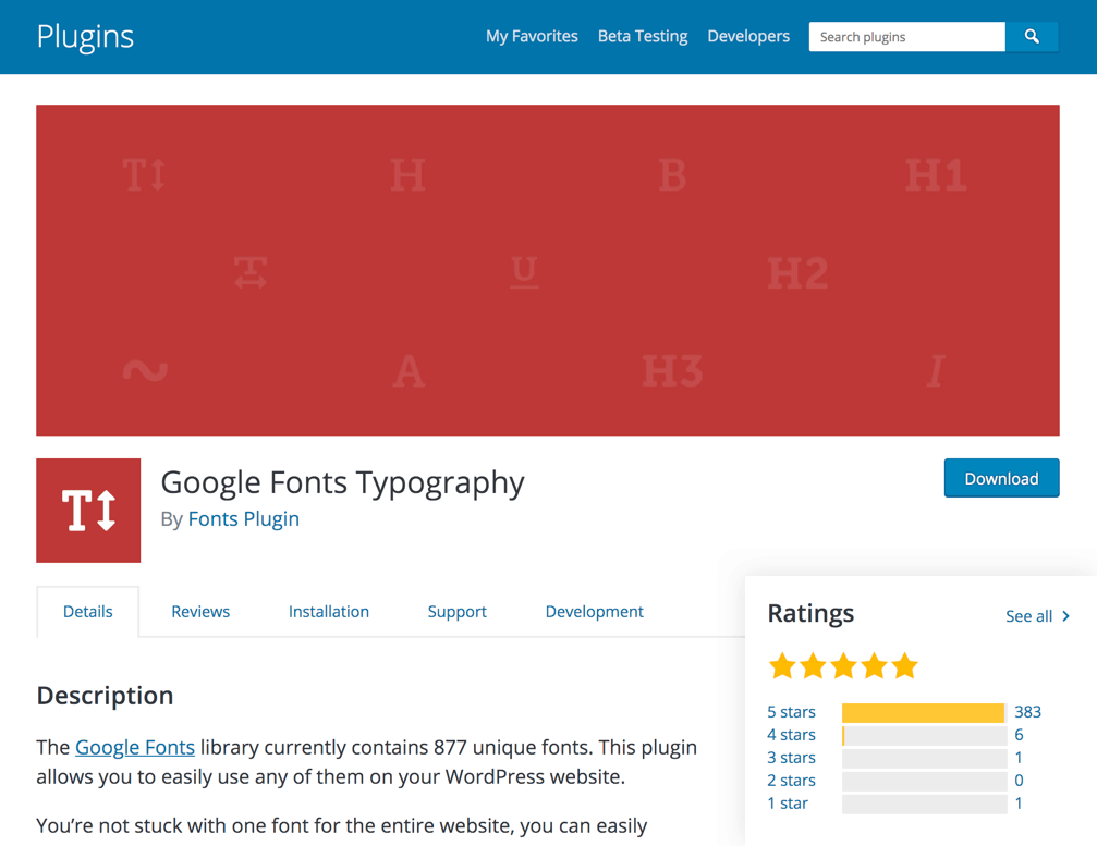 Google Fonts Typography