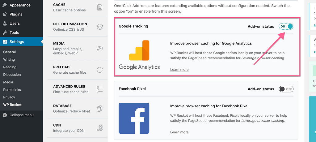 Wp Rocket Host Google Analytics