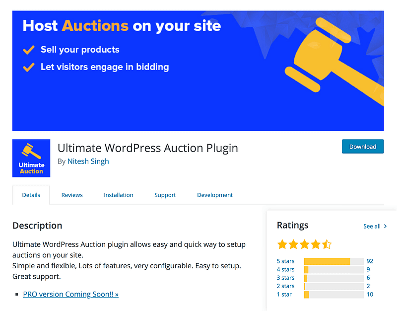 Ultimate WordPress Auctions