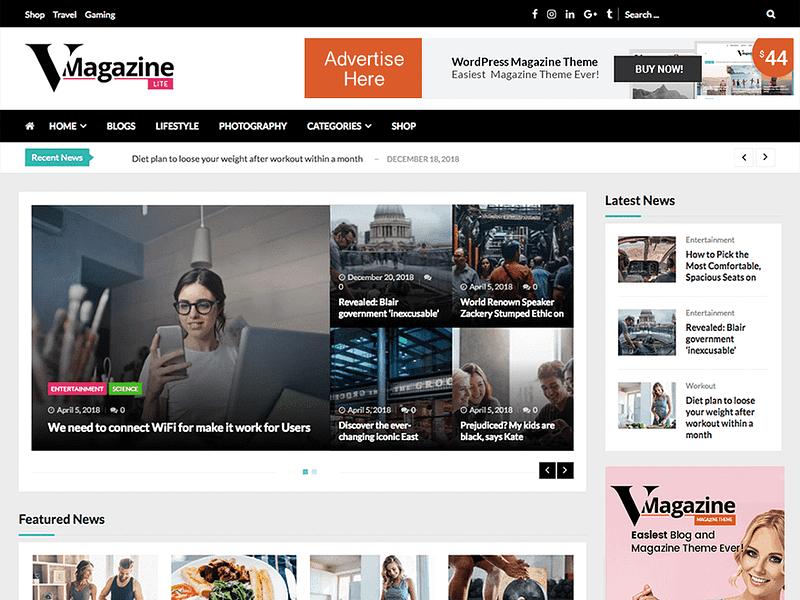 VMagazine Lite theme