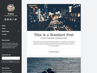 Author WordPress theme