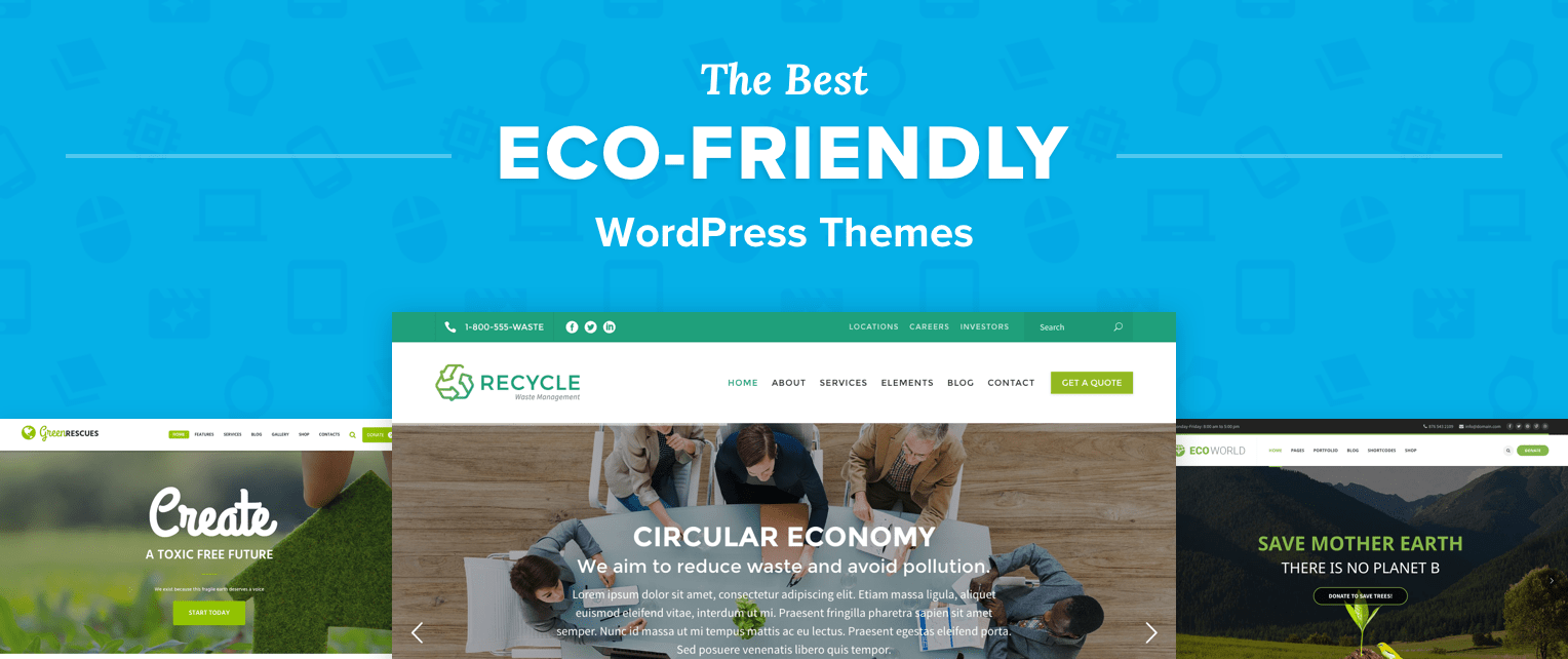 Eco Friendly WordPress Themes
