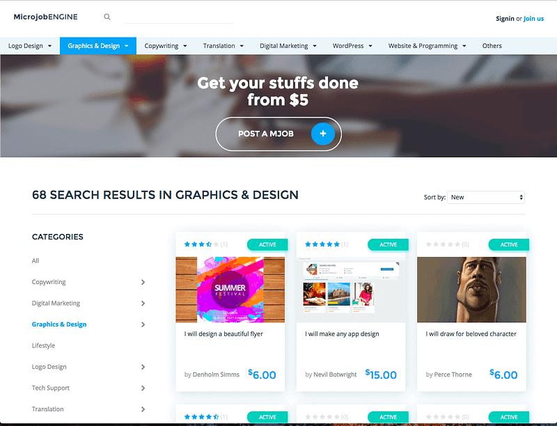 MicrojobEngine demo site
