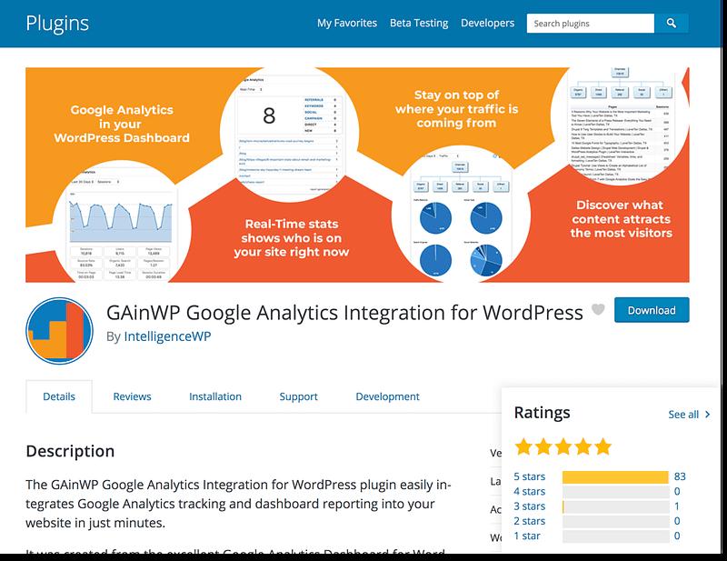 GainWP Google Analytics
