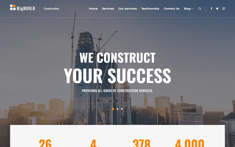 BigBuild construction company theme