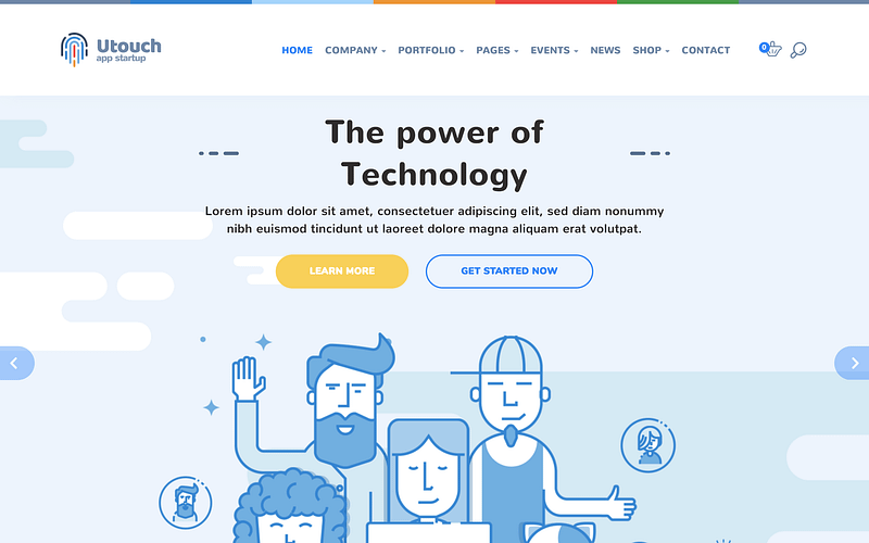 Utouch technology theme