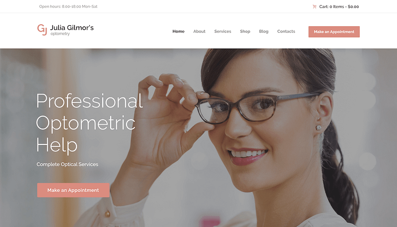 Optometry WordPress theme
