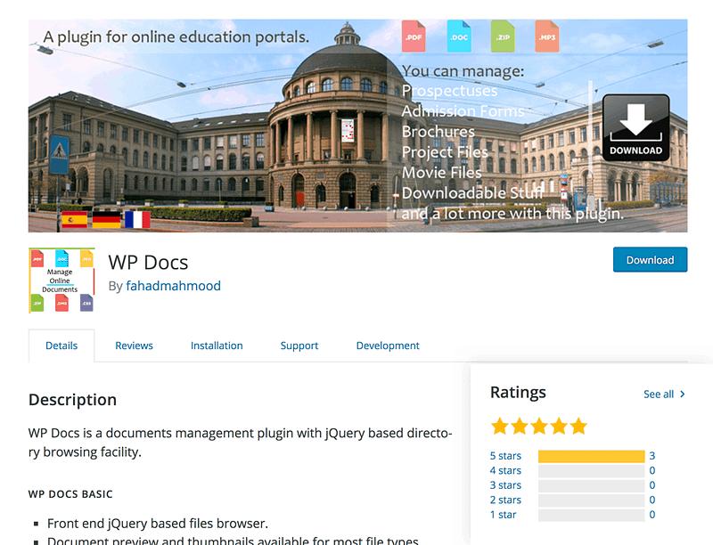 WP Docs plugin