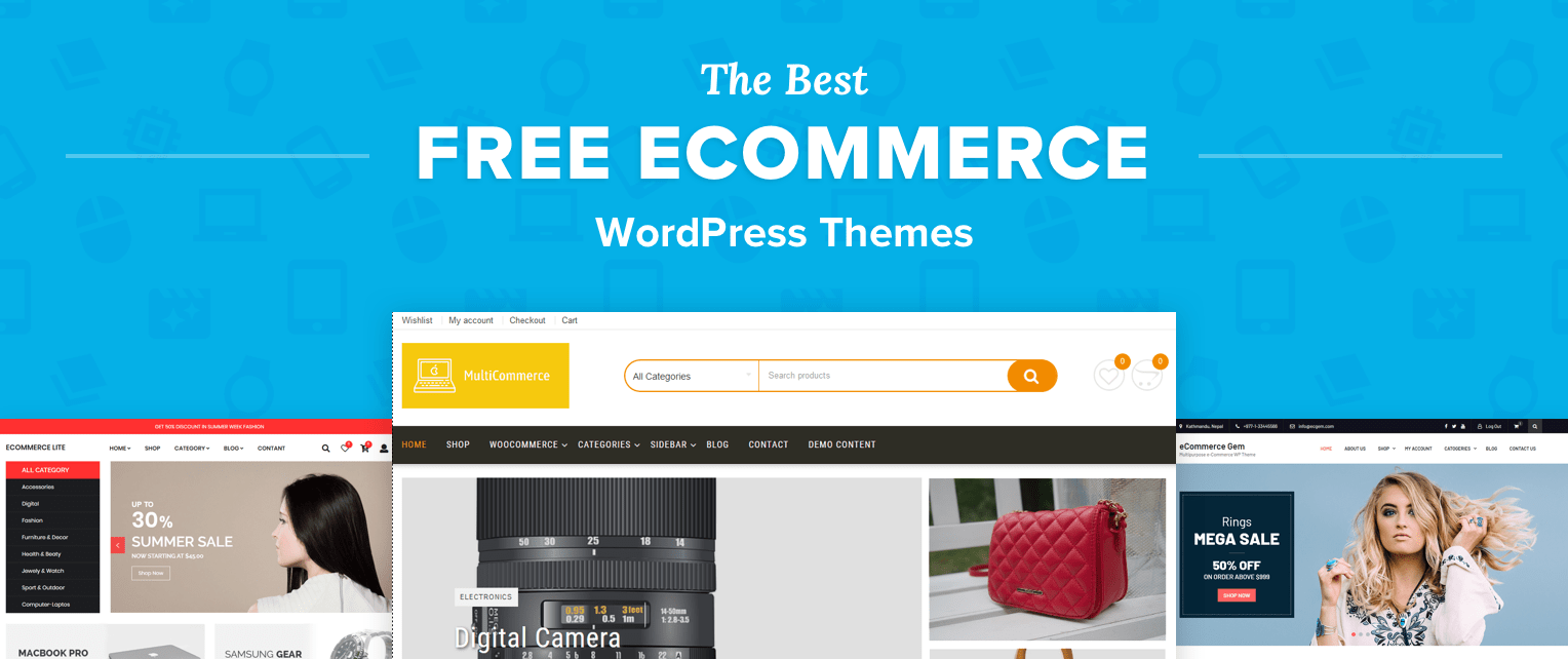 best free responsive ecommerce wordpress themes