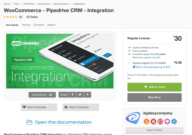 WooCommerce Pipedrive Integration plugin